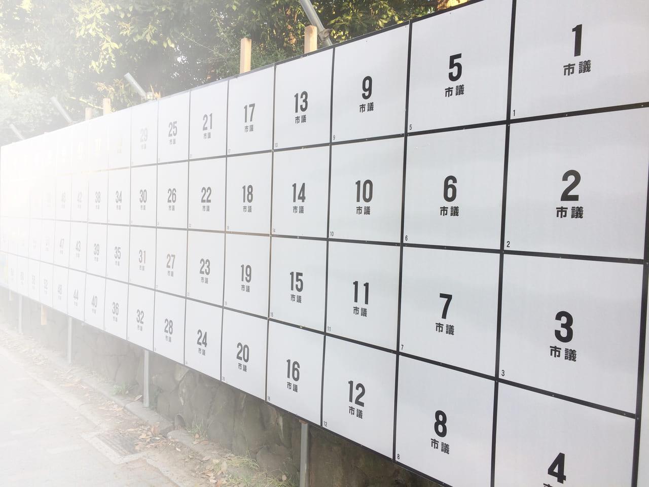 選挙ポスター貼り付け前