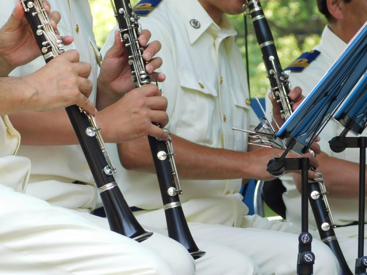 吹奏楽のクラリネット